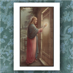 Funeral Thank You Card - Holy Card - Jesus Knocking - Printed in Australia