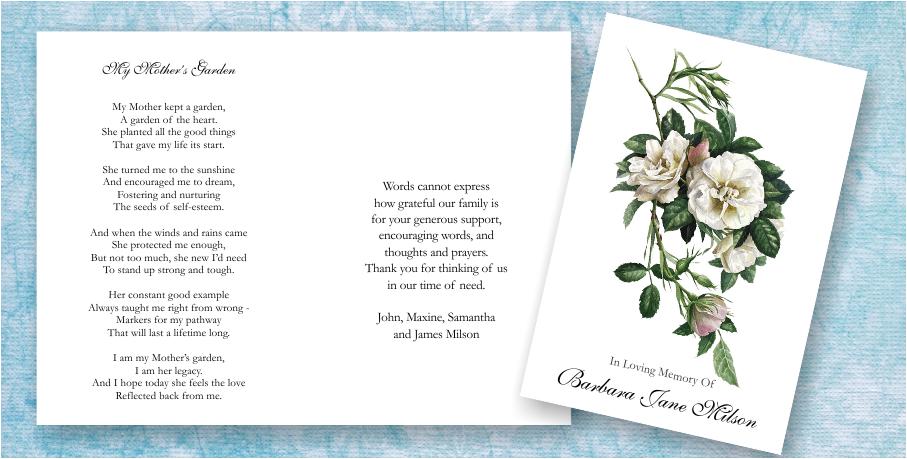 Funeral & Memorial Poems | Memorial & Funeral Stationery Blog