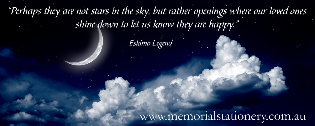 Memorial Quotes For Loved Ones Eskimo Legend ~ beautiful quote remembering loved ones lost  Memorial Quotes For Loved Ones