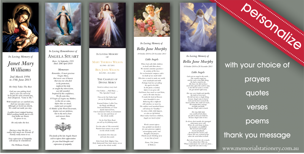 Religious Holy CardsMemorial & Funeral Stationery Blog | Memorial ...